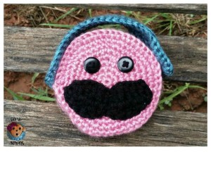 Mustache Ear Buds Case ~ Sick 'Lil Monkeys - Cre8tion Crochet