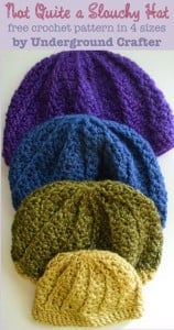 Not Quite a Slouchy Hat ~ Marie Segares - Underground Crafter