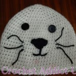 Baby Seal Beanie Newborn Hat ~ Crochet Addict