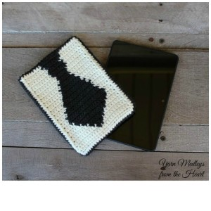 Tie Tablet Cover ~ Nondas Hensley - Yarn Medley's from the Heart - Cre8tion Crochet