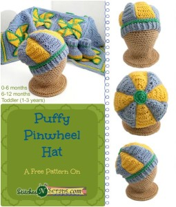 Puffy Pinwheel Hat ~ Stitches 'N' Scraps