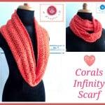 Corals Infinity Scarf ~ Maz Kwok's Designs