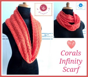 Corals Infinity Scarf ~ Maz Kwok's Designs