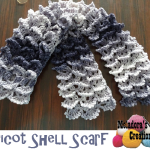 Picot Shell Stitch Scarf ~ Meladora's Creations