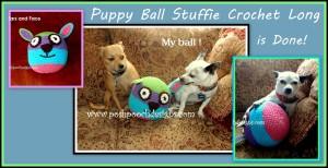 Puppy Ball Stuffie Dog Toy ~ Sara Sach - Posh Pooch Designs