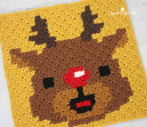 Rudolph Pixel Square ~ Repeat Crafter Me