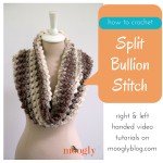 Split Bullion Stitch ~ Moogly