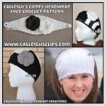 Calleigh's Comfy Headwrap ~ Elisabeth Spivey - Calleigh's Clips & Crochet Creations