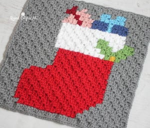 Christmas Stocking Pixel Square ~ Repeat Crafter Me