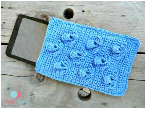 The Blooming Thistle Tablet Cozy ~ Lisa Egan - Cre8tion Crochet