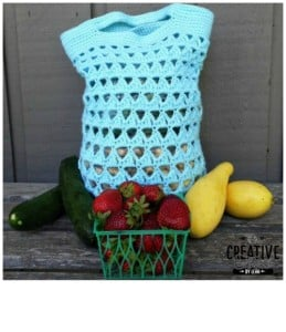 Triangle Stitch Crochet Market Bag ~ Creative Threads by Leah - Cre8tion Crochet