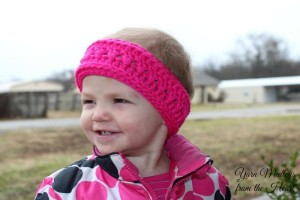 Twisted Ridges Earwarmer (Toddler Size) ~ Nondas Hensley - Cre8tion Crochet