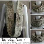 Two Ways About It Reversible Infinity Scarf ~ Lorene Eppolite - Cre8tion Crochet