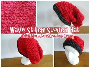 Wave Stitch Slouch Hat ~ Meladora's Creations