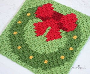 Wreath Pixel Square ~ Repeat Crafter Me