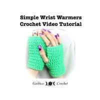 Simple Wrist Warmers Crochet Video Tutorial ~ Goddess Crochet