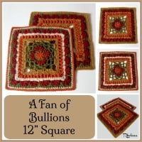 A Fan of Bullions 12″ Square ~ Rhelena – CrochetN'Crafts