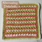 Alternating Dishcloth ~ Rhelena - CrochetN'Crafts