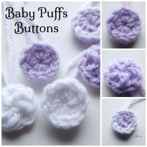 Baby Puffs Button ~ Rhelena - CrochetN'Crafts