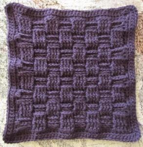 Basketweave Afghan Square ~ Ambassador Crochet