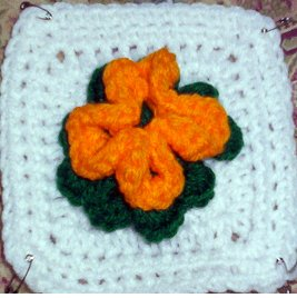 Bonnie's Flower Afghan Square ~ Crochet N More