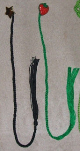 Buttoned Tassel Bookmark ~ April Moreland - The Left Side of Crochet
