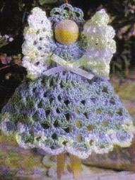 Clothespin Angel ~ MomsLoveOfCrochet