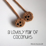 Tiny Coconut Applique ~ Moogly