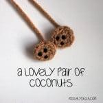Tiny Coconut Applique ~ Moogly