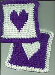 Bev's X-Stitched Heart Squares ~ Bev's Country Cottage