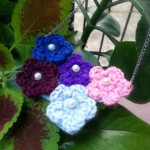 Make  A Crochet Flower Necklace ~ Craftbits.com