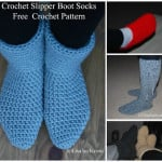 Crochet Slipper Boots ~ Free Crochet Patterns and Designs by LisaAuch
