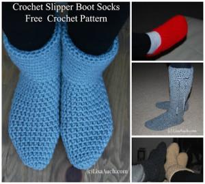 Crochet slipper boots free crochet pattern crochet slipper boots free crochet patterns and designs by lisaauch dt1010fo