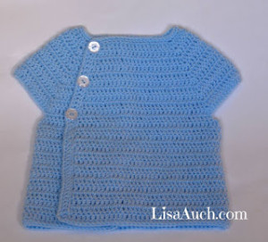 3-6 Months Cardigan ~ Free Crochet Patterns and Designs by Lisa Auch