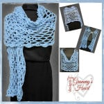 Diamonds are a Girl's Best Friend Shawl ~ Designs from Grammy's Heart, with Love