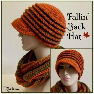 Fallin' Back Hat ~ Rhelena - CrochetN'Crafts