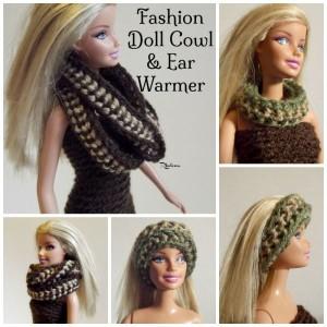 Fashion Doll Cowl & Ear Warmer ~ Rhelena - CrochetN'Crafts
