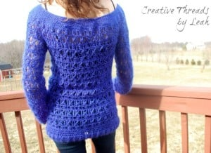 Wicker Weave Sweater ~ Creative Threads by Leah - Cre8tion Crochet