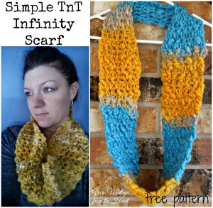 Simple TnT Infinity Scarf ~ Nondas Hensley - Cre8tion Crochet