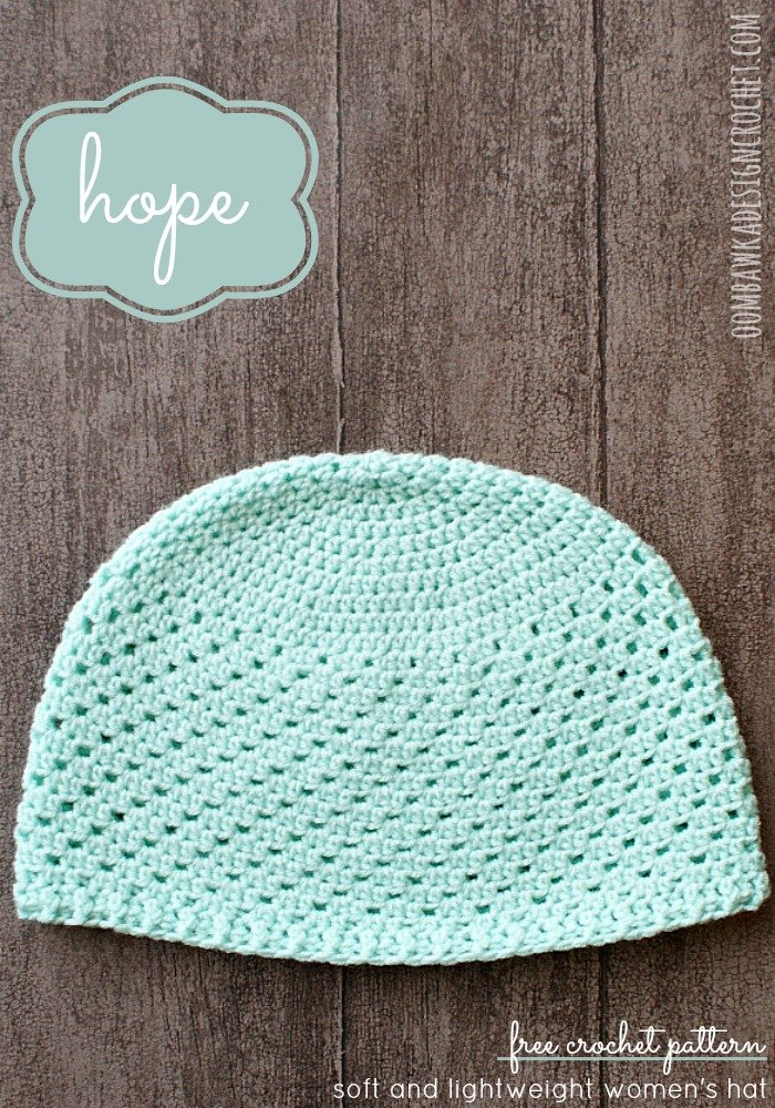 Hope Women S Hat Free Crochet Pattern