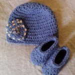 Pocket Beanie Hat and Basic Booties Set ~ Dee Ann H - Joyful In Tribulation