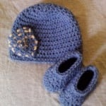 Pocket Beanie Hat and Basic Booties Set ~ Dee Ann H – Joyful In Tribulation