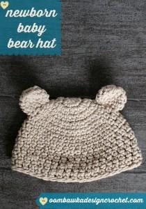 Newborn Baby Bear Hat ~ Oombawka Design