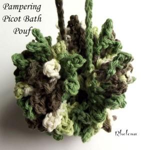 Pampering Picot Bath Pouf ~ Rhelena - CrochetN'Crafts