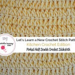 Forked Half Double Crochet Stitch Tutorial and Dishcloth ~ The Stitchin' Mommy