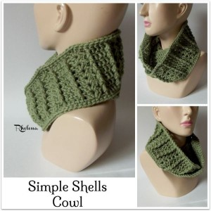 Simple Shells Cowl ~ Rhelena - CrochetN'Crafts