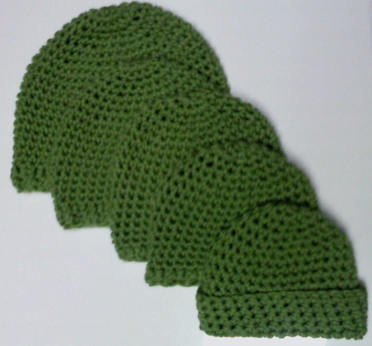 Crochet Patterns With Single Stitch : Babies, Kids and Teens Single Crochet Beanie ~ FREE Crochet Pattern