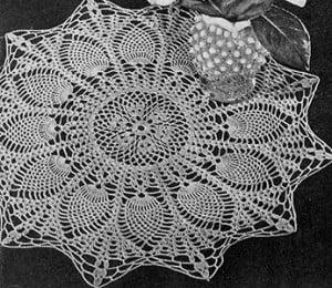 Sunburst Doily #D-116 ~ Free Vintage Crochet
