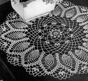 Cornfield Doily ~ Free Vintage Crochet
