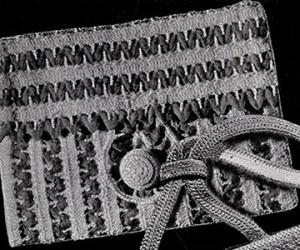 Rick Rack Purse ~ Free Vintage Crochet